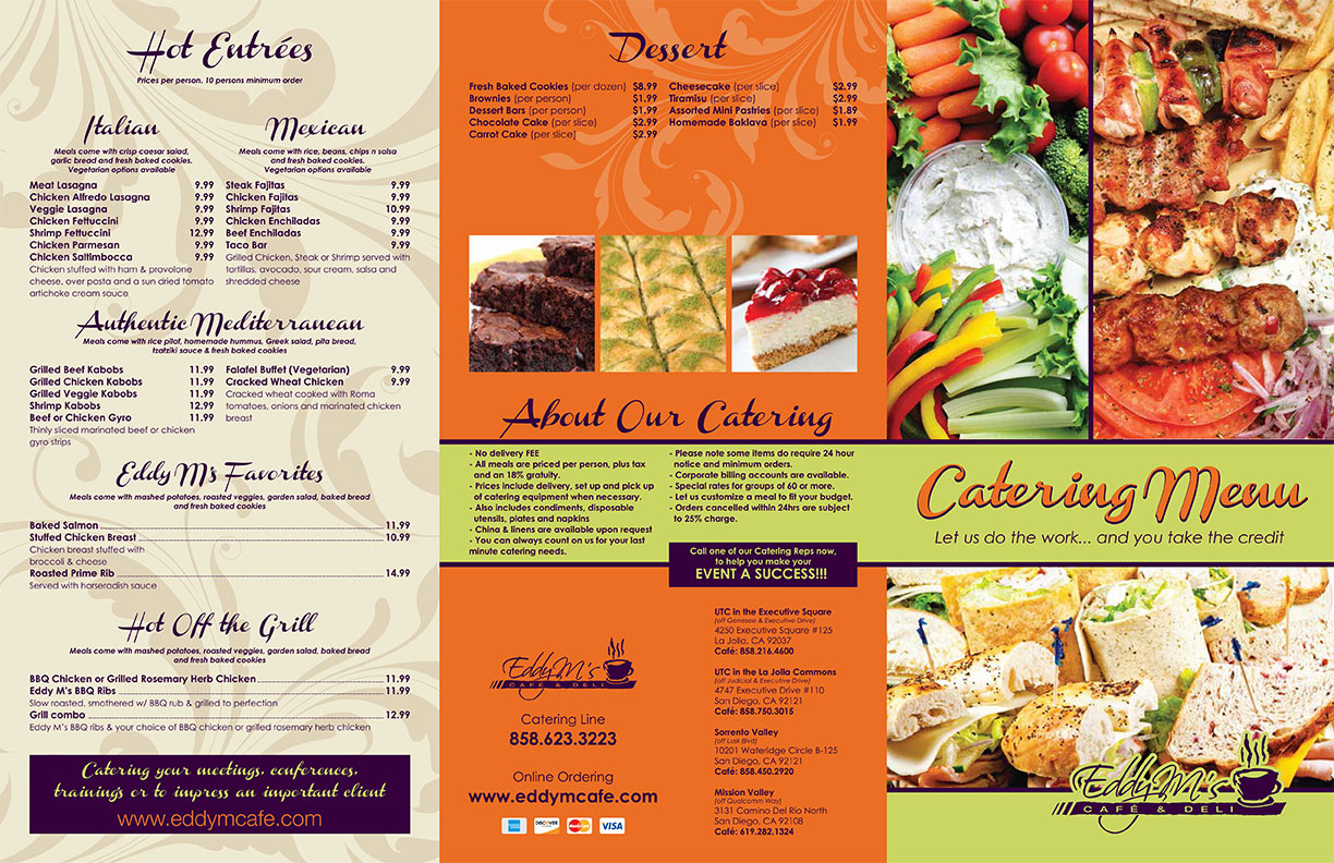 Cafe Rio Catering Menu