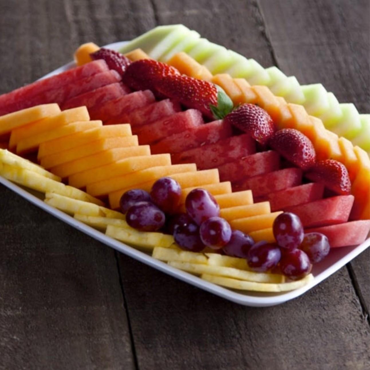 fresh cut fruit tray