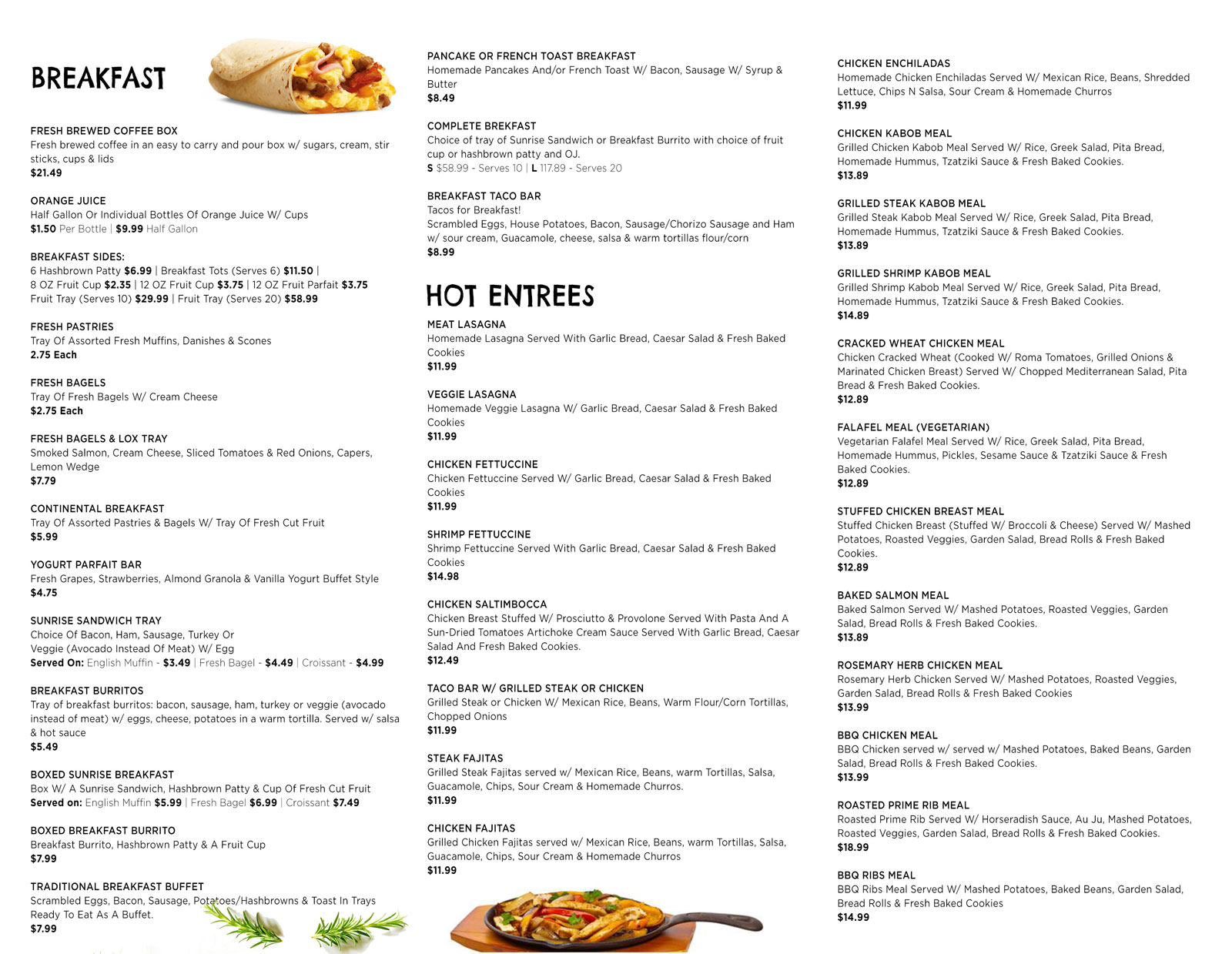 Online Catering - Eddy M Cafe